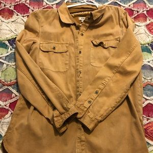Madewell Button Down in Dark Mustard Color
